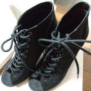 お値下げしました‼️     黒い靴👢✨