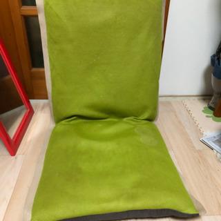 無料 ★ 座椅子 黄緑色 ★