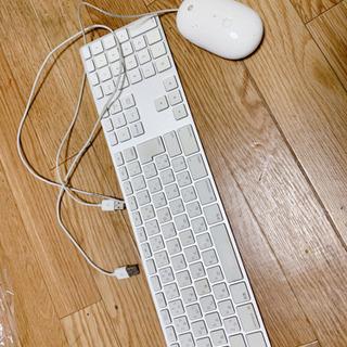 昔のMacのキーボード、マウス