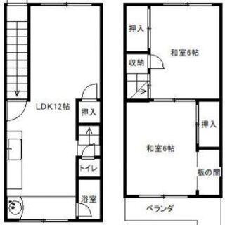 🔴【2LDK】貸家 敷津浦小学校区 南向き 住之江区北島