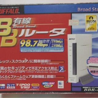 コンパクトサイズ BUFFALO 有線BBルータ[BBR-4HG...