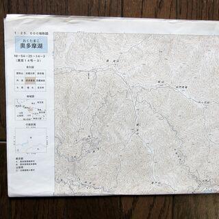 「奥多摩湖」国土地理院1/25000地形図2⃣
