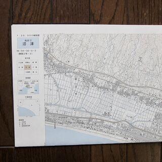 「沼津」国土地理院1/25000地形図1⃣