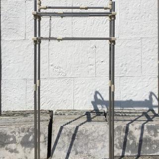 お値下げ◆幅調節可能!組立て式◆ステンレス洗濯ラック
