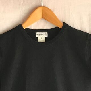 agnis b Tシャツ ブラック アニエスb.アニエスベー
