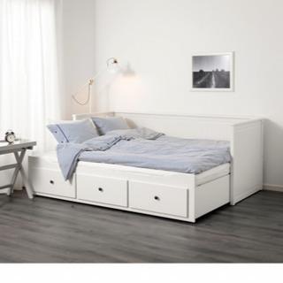 IKEA ヘムネス シングル/ダブルベッド