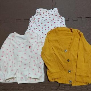 【ネット決済】女の子長袖服 サイズ90 三枚組