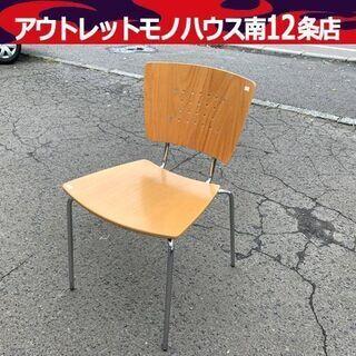 コクヨ スタッキングチェア 幅42.5cm 木製 ナチュラル ダ...