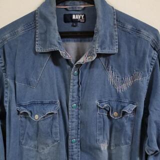 NAVY  JEANSシャツ