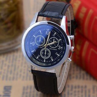 【新品】腕時計 メンズ ブラック ビジネス カジュアル