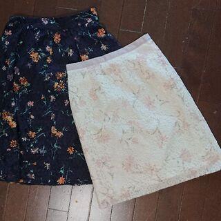 送料無料&美品綺麗☆2着組パターンフィオナ レーススカート Sサイズ