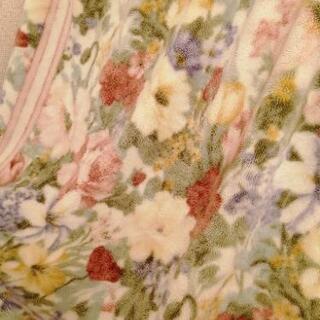 毛布 シングル 花柄 ニッケ