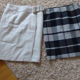 マテリアの秋冬スカート二点