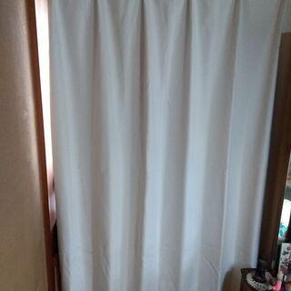 美品 NITORI  遮光カーテン アイボリー 幅150cm丈1...