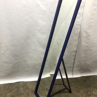 大特価!全身鏡 姿見 ブルー 幅35×高さ150×厚さ2cm 壁...