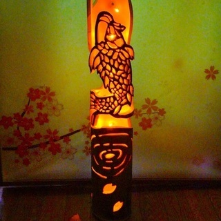 竹灯籠 〜〜鯉の滝登り〜〜