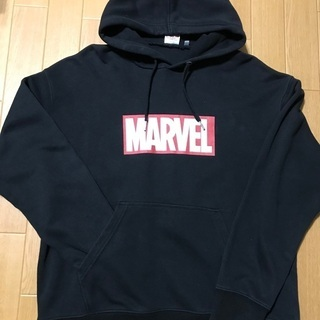MARVELパーカー【メンズL】黒
