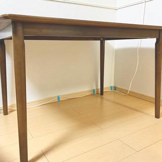 【最終値下げ早い者勝ち】天然木突板 ウォールナットダイニングテーブル