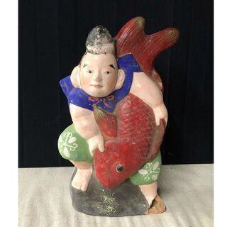 c959 三次人形 恵比寿様 高さ31cm 古い三次人形 郷土玩...