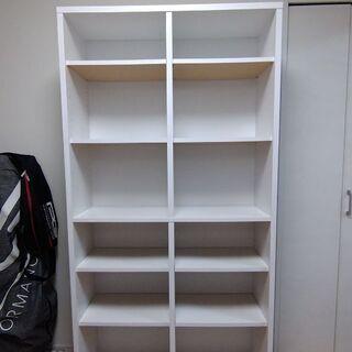 本棚 ※取りに来ていただける方へ譲ります(白、幅880×奥行29...