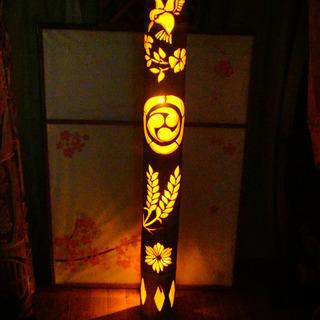 大型竹灯籠 〜〜和巡り〜〜