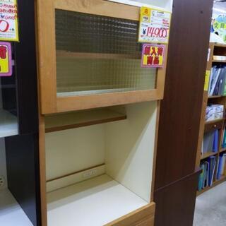 末次家具 2面食器棚 レンジボード 59幅×46×150高cm ...