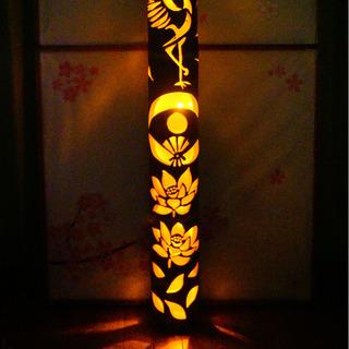 大型竹灯籠 〜〜鶴〜〜