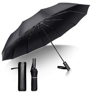 折りたたみ傘 頑丈な12本骨 自動開閉 おりたたみ傘