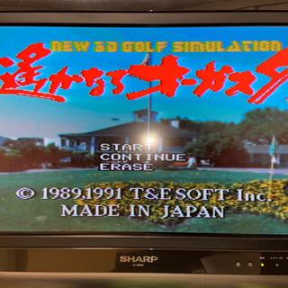 スーパーファミコンソフト 遙かなるオーガスタ ゴルフゲーム 中古...