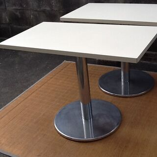 ※値下げで半額に【いい感じ②】1本脚 テーブル 50×90×H6...