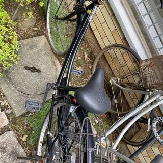 黒色自転車