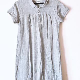 ポロシャツワンピ Lサイズ グレー