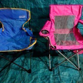 キャンプ用折り畳み式チェア 2個まとめて