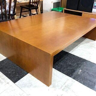 札幌近郊 送料無料 木製 座卓テーブル 座卓 ローテーブル テーブル センターテーブル 机 分割可能  幅150㎝×奥行110㎝×高さ40㎝の画像