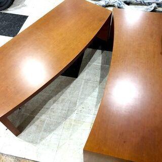 札幌近郊 送料無料 木製 座卓テーブル 座卓 ローテーブル テーブル センターテーブル 机 分割可能  幅150㎝×奥行110㎝×高さ40㎝ - 空知郡