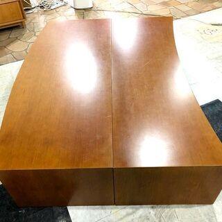 札幌近郊 送料無料 木製 座卓テーブル 座卓 ローテーブル テーブル センターテーブル 机 分割可能  幅150㎝×奥行110㎝×高さ40㎝ - 家具