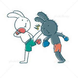 キックボクシング練習