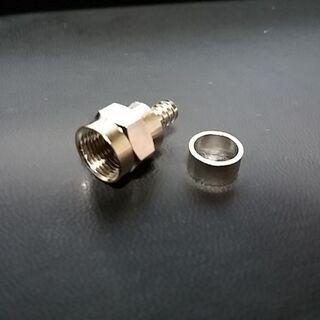 アンテナ接栓 F型コネクター 4Cケーブル用 100個
