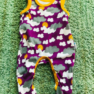 jutta ユッタ 50ー56 爪先暖かロンパース 紫