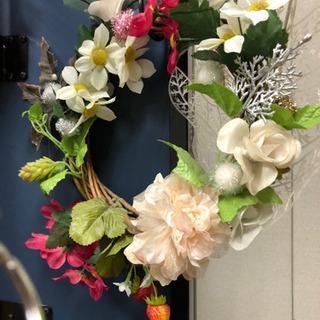 💐花のリース   9点 花輪 フェイクフラワー