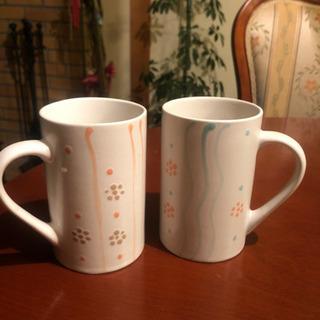 大きめマグカップ 二個セット