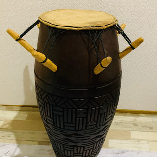 ガーナアフリカンドラム 打楽器 太鼓 パーカッションの画像