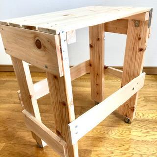 檜木材ハンドメイドテーブル