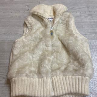 袖なしのモコモココート ダウンコート ジャケット 130