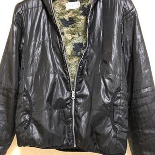 【150cm】黒上着ジャンバー★ジャンパーコート迷彩柄子供服