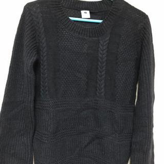 150cm  紺色のセーター