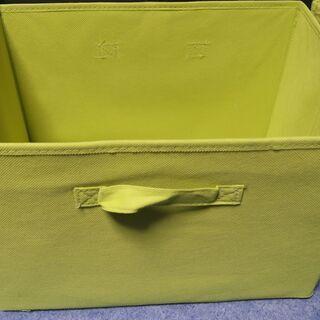 緑色のカラーボックス収納ケース 折り畳み式 4つセット
