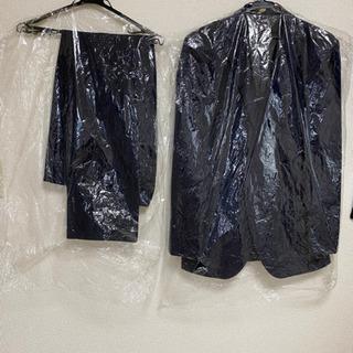 取引者決定✿メンズスーツ XL 紺色縦縞 - 服/ファッション