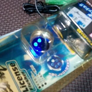 【アウトレット品】LEDナンバーフラッシャー★ブルー【当時物】