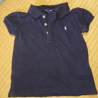 ラルフローレン ポロシャツ 紺色 ピンク ロゴ 90cm